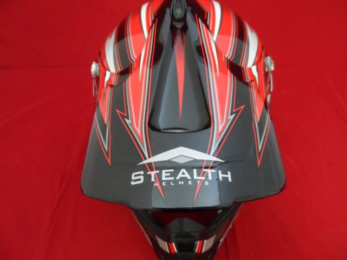STEALTH HD203 FULL FACE MX HELMET RED LARGE