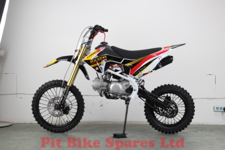 CRF110 plastics With Rockstar Graphics Kit Fitted