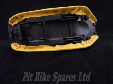 Pit Bike Seat. CRF50 Black Top & Yellow Sides