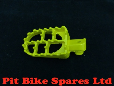 Yellow Alloy Footpegs With Springs & Pins