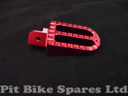 Red CNC Foot Pegs For Pit Bike. Foot Rests, Footpegs