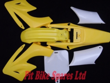 Yellow Full Plastics Kit For Bulldog, Ghost, Assassin