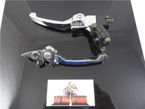 Chrome ASV Style Folding Brake & Clutch Lever Set