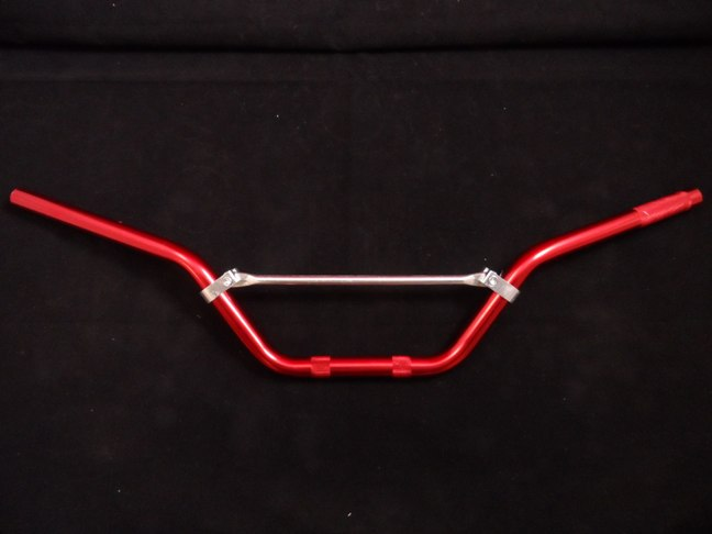 "Heavy Duty Red Alloy Pit Bike Handlebars. 720mm Wide. 5"" Rise"