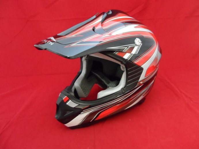 STEALTH HD203 FULL FACE MX HELMET RED X-LARGE